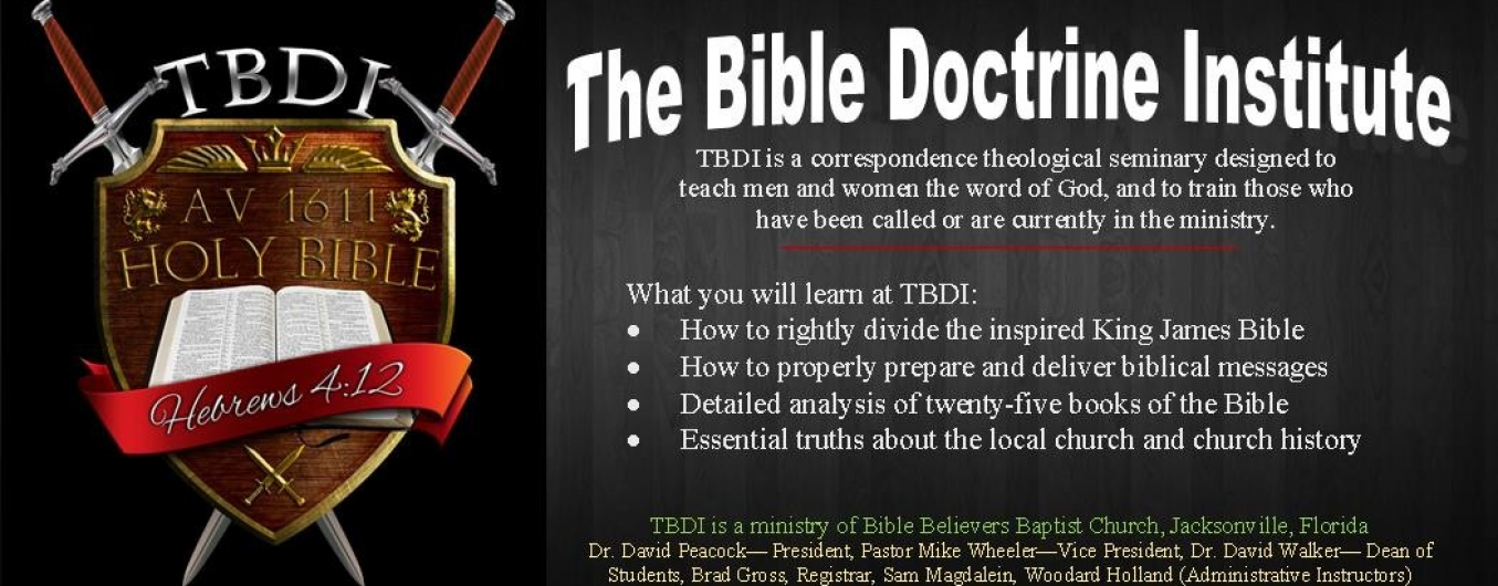 The Bible Doctrine Institute